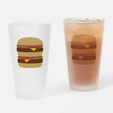 Double Burger Drinking Glass