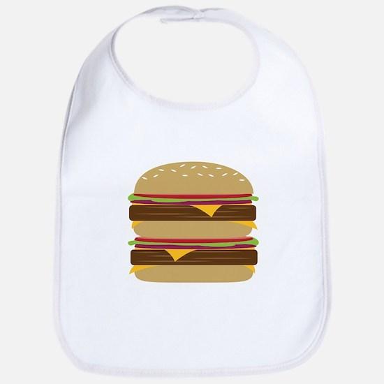 Double Burger Bib