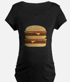 Double Burger Maternity T-Shirt