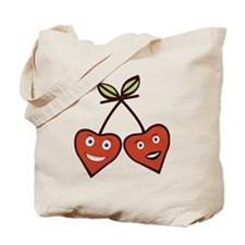 Cute kawai Cherry Love Hearts Tote Bag