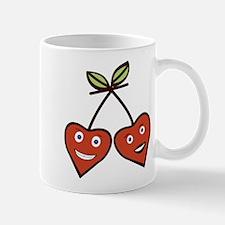 Cute kawai Cherry Love Hearts Mugs