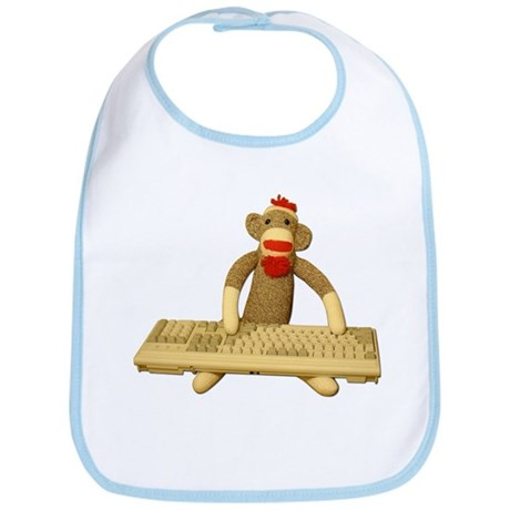 Code Sock Monkey Bib