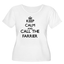 Keep calm and call the Farrier Plus Size T-Shirt