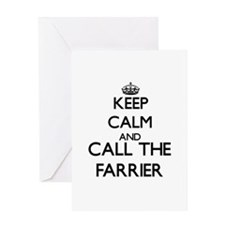 Keep calm and call the Farrier Greeting Cards