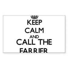 Keep calm and call the Farrier Decal