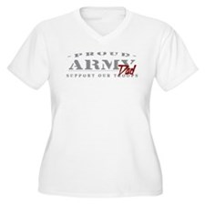 Proud Army Dad (red) T-Shirt