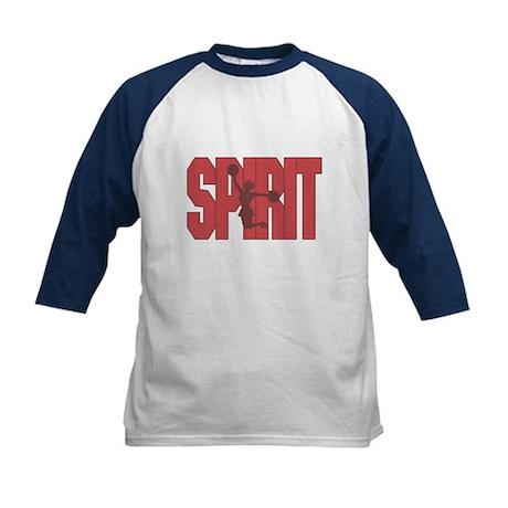 Cheerleader Red Spirit Kids Baseball Jersey