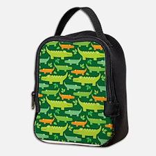 Crocodile Alligator Jungle Neoprene Lunch Bag