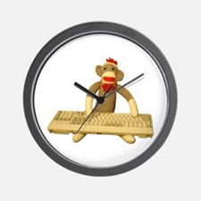 Code Sock Monkey Wall Clock