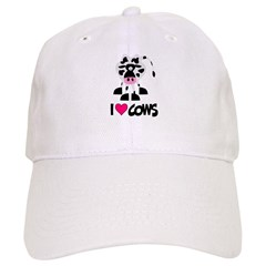 I Love Cows Baseball Cap