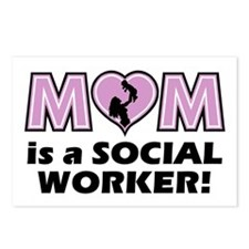 Mom is a SOCIAL WORKER Postcards (Package of 8)