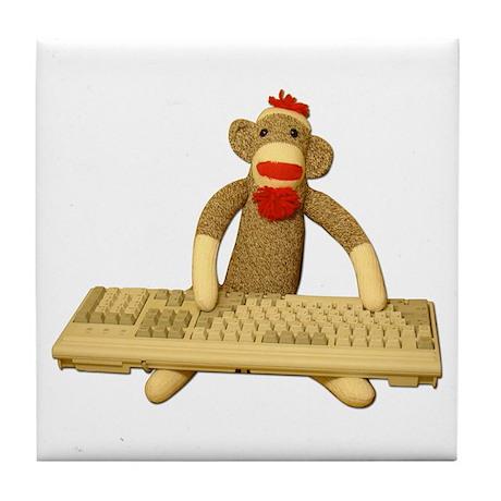 Code Sock Monkey Tile Coaster