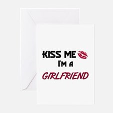 Kiss Me, I'm a GIRLFRIEND Greeting Cards (Package