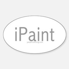 iPaint Oval Decal