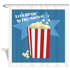 Go To The Movies Shower Curtain