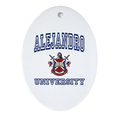 ALEJANDRO University Oval Ornament