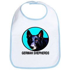 German Shepherds Skyblue Bib