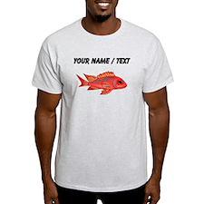 Custom Red Snapper Fish T-Shirt