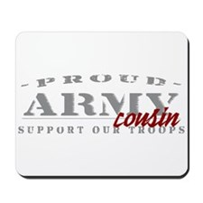 Proud Army Cousin (red) Mousepad