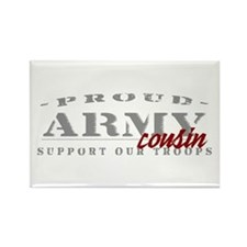 Proud Army Cousin (red) Rectangle Magnet
