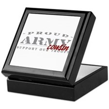 Proud Army Cousin (red) Keepsake Box