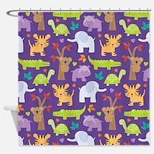 Cute Zoo Animals Shower Curtain