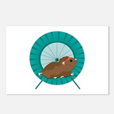 Hamster Treadmill Postcards (Package of 8)