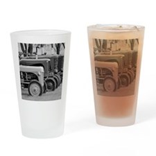 Old Farm Tractors Drinking Glass