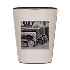 Old Farm Tractors Shot Glass