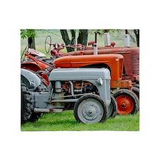 Old Farm Tractor Throw Blanket