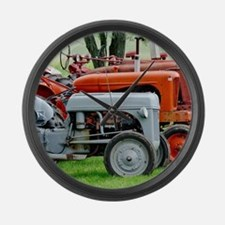Old Farm Tractor Large Wall Clock