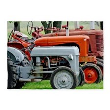 Old Farm Tractor 5'x7'Area Rug