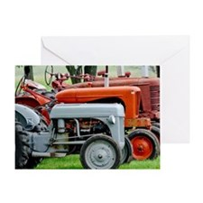Old Farm Tractor Greeting Card