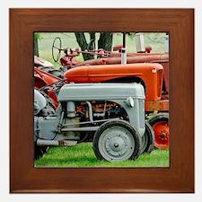 Old Farm Tractor Framed Tile