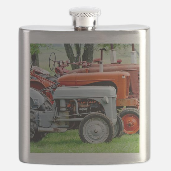 Old Farm Tractor Flask