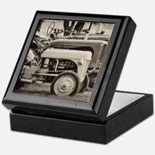 Old Farm Tractor Keepsake Box