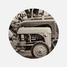 """Old Farm Tractor 3.5"""" Button"""