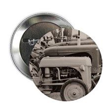 """Old Farm Tractor 2.25"""" Button"""
