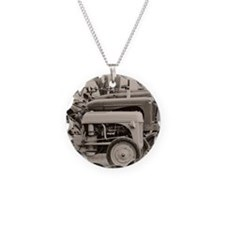 Old Farm Tractor Necklace