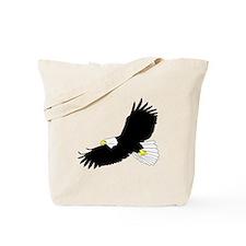 Bald Eagle Flying Tote Bag