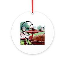 Farm Tractor  Round Ornament