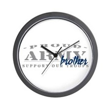 Proud Army Brother (blue) Wall Clock