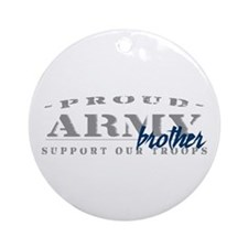 Proud Army Brother (blue) Ornament (Round)