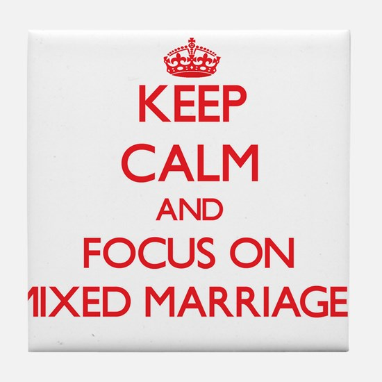 Cute Mixed marriages Tile Coaster