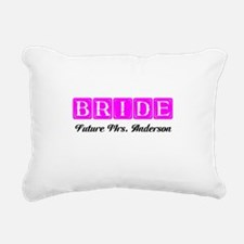 Hot Pink Bride Personalized Rectangular Canvas Pil