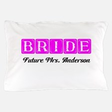 Hot Pink Bride Personalized Pillow Case