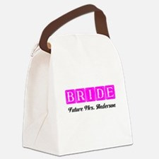 Hot Pink Bride Personalized Canvas Lunch Bag
