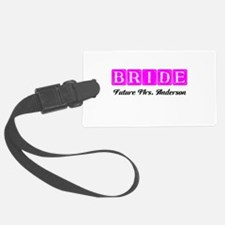 Hot Pink Bride Personalized Luggage Tag