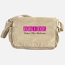 Hot Pink Bride Personalized Messenger Bag