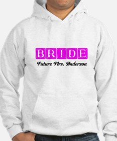 Hot Pink Bride Personalized Hoodie
